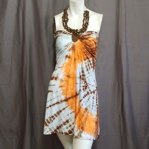 Sky Tie Dye Halter Dress